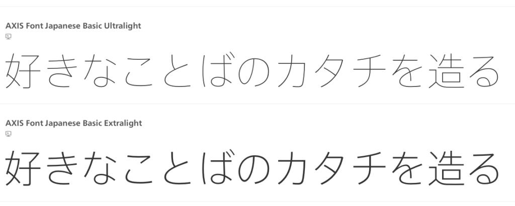 日本語WEBフォントとHelveticaやDINに似ているフォントをGoogle